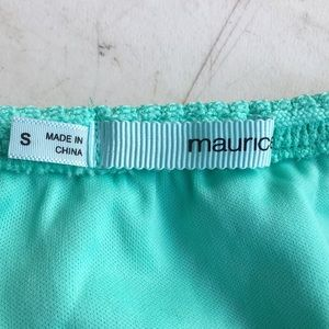 Maurices Dresses - Teal high-low strapless dress